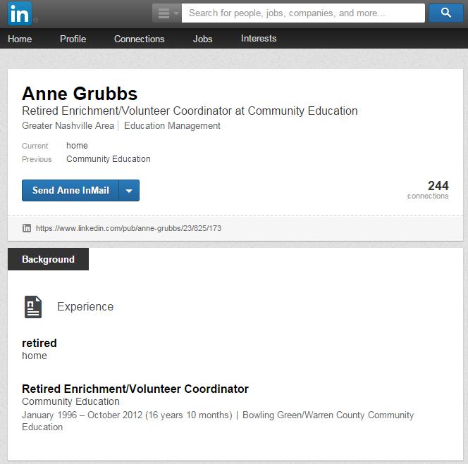 Anne Grubbs Linkedin