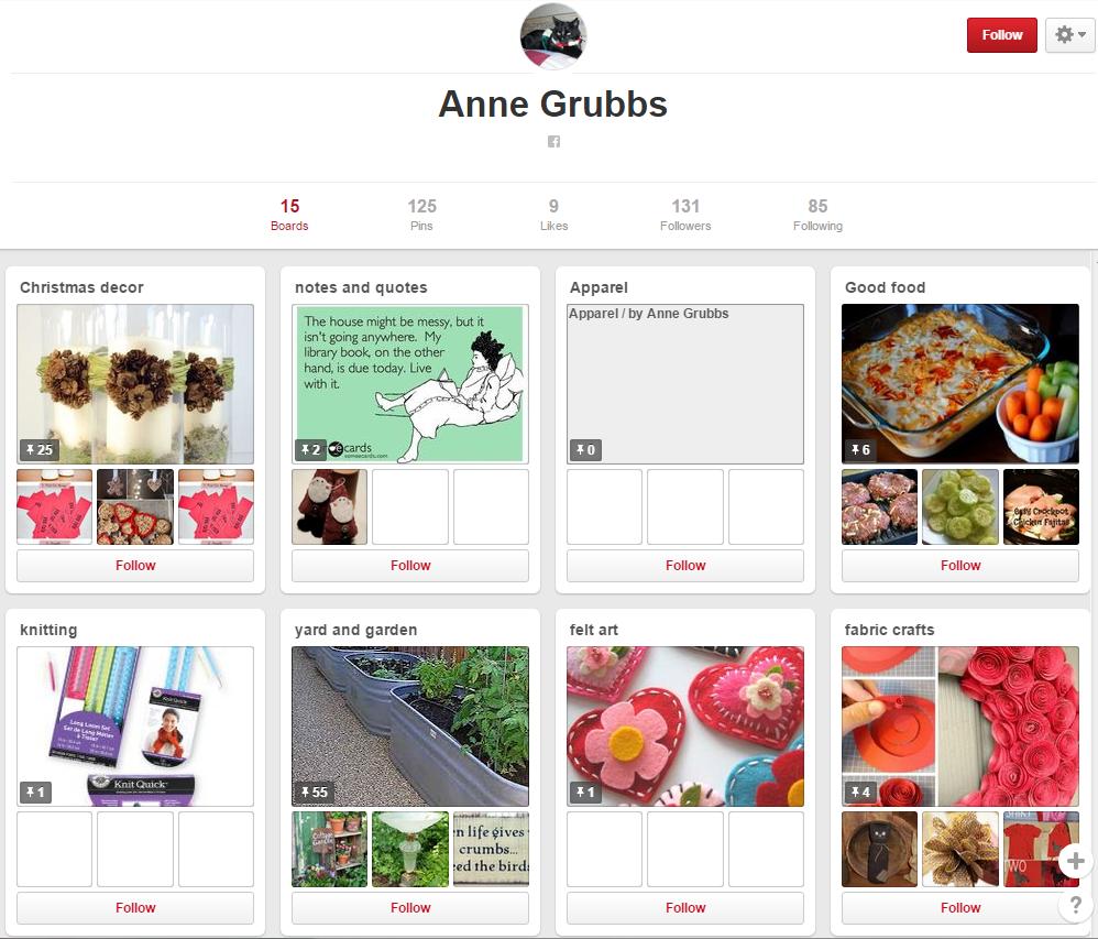 Anne Grubbs Pinterest